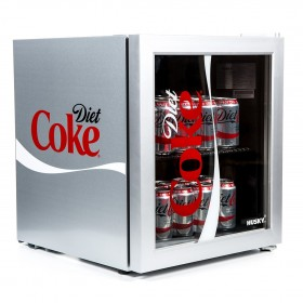 HUSKY GLASS DOOR MINI FRIDGE (DIET COKE EDITION) - HY209