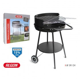 ALGON WHEELED ROUND BARBECUE - BY01010569492