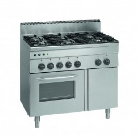 INDUSTRIAL GAS COOKER - MG 100 + NEUTRAL - LINEA 600 MM