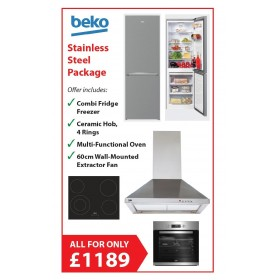 BEKO FULL KITCHEN PACKAGE DEAL - STAINLESS STEEL